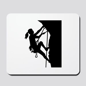 Climbing woman girl Mousepad