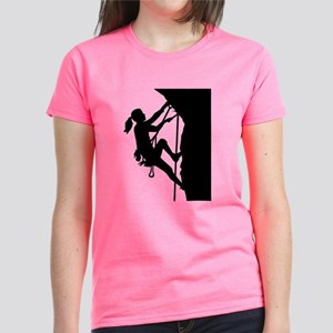 Climbing woman girl Women's Dark T-Shirt