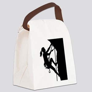 Climbing woman girl Canvas Lunch Bag