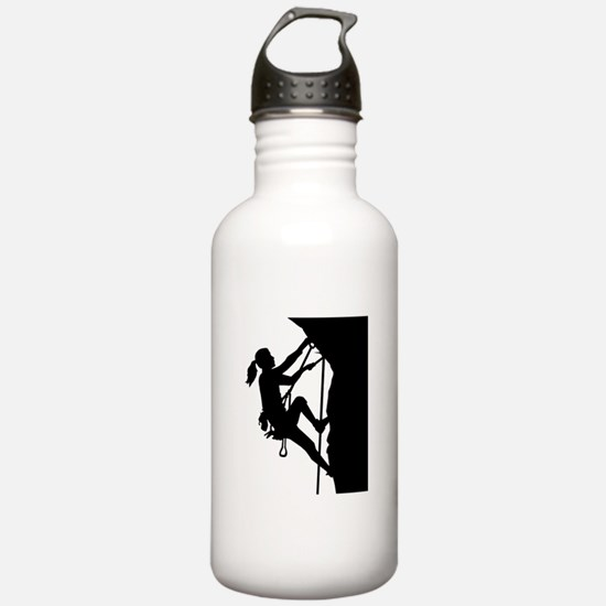 Climbing woman girl Water Bottle
