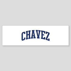 CHAVEZ design (blue) Bumper Sticker