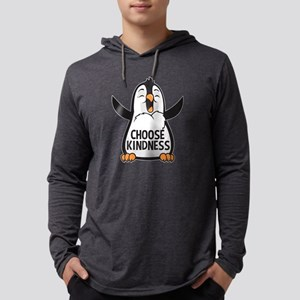 Choose Kind Happy Penguin Mens Hooded Shirt