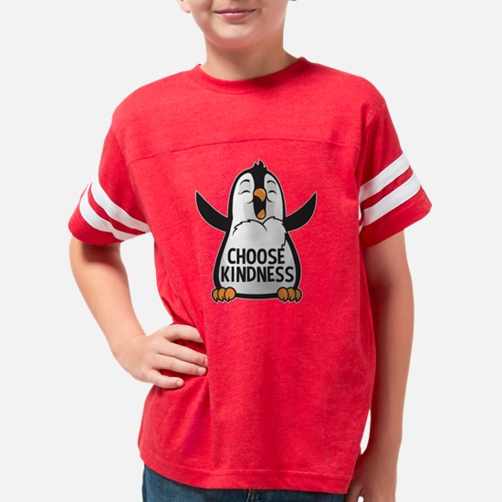 Choose Kind Happy Penguin Youth Football Shirt