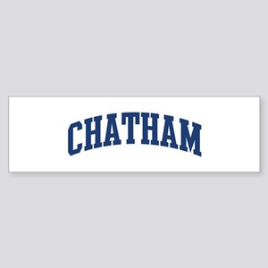 CHATHAM design (blue) Bumper Sticker