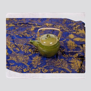 TeapotSilkScarf081210 Throw Blanket