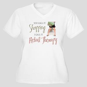 Retail Therapy Women's Plus Size V-Neck T-Shirt
