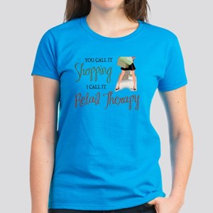 Retail Therapy Women's Aqua T-Shirt