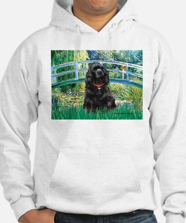 Bridge / Black Cocker Spaniel Hoodie