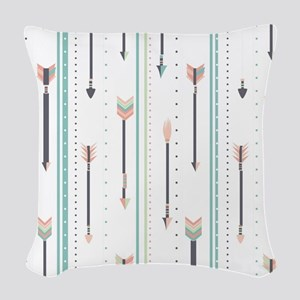 Arrows Woven Throw Pillow