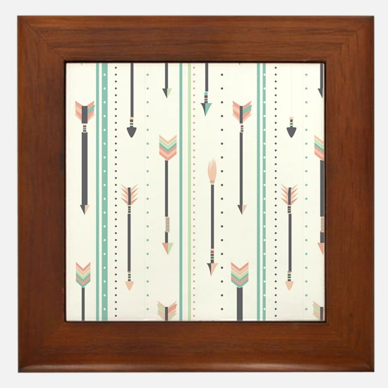 Arrows Framed Tile