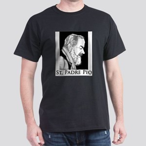 "St. Padre Pio T-Shirt (grey) - ""Pray, Hope"" T-Shir"