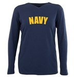 NAVY Plus Size Long Sleeve Tee