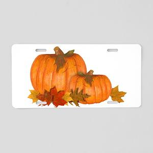 Fall Pumpkins Aluminum License Plate