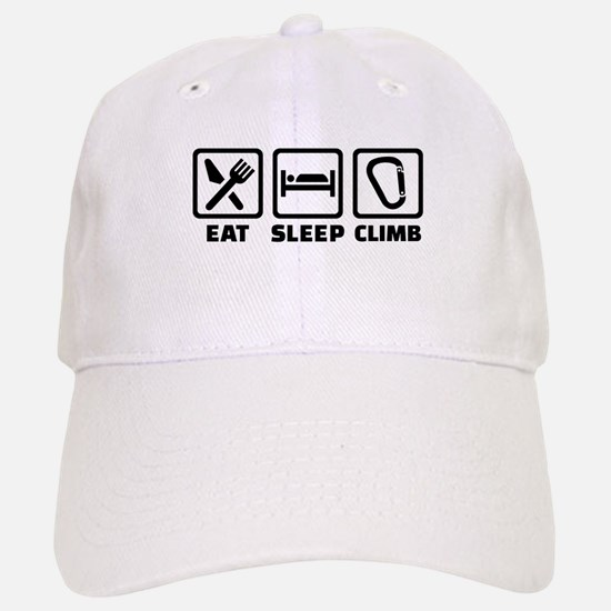 Eat sleep climb Baseball Baseball Cap