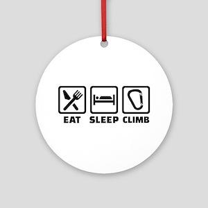 Eat sleep climb Round Ornament