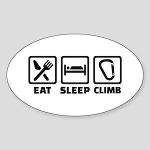 Eat sleep climb Sticker (Oval)