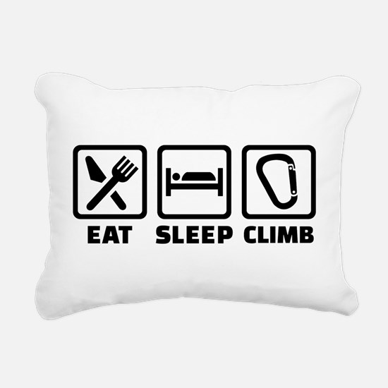 Eat sleep climb Rectangular Canvas Pillow