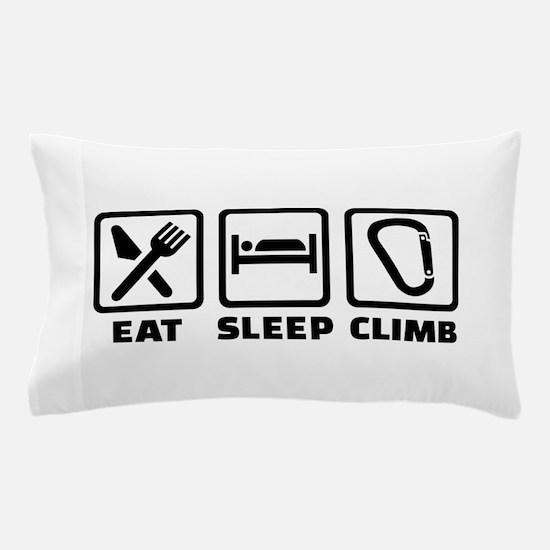 Eat sleep climb Pillow Case