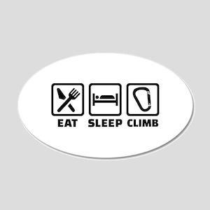 Eat sleep climb 20x12 Oval Wall Decal