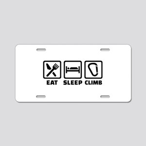 Eat sleep climb Aluminum License Plate