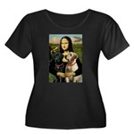 Mona / Labrador Women's Plus Size Scoop Neck Dark