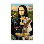 Mona / Labrador Sticker (Rectangle)