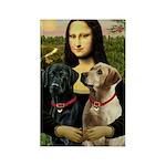 Mona / Labrador Rectangle Magnet