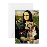 Mona / Labrador Greeting Cards (Pk of 20)