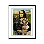Mona / Labrador Framed Panel Print