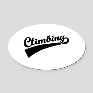 Climbing Oval Car Magnet