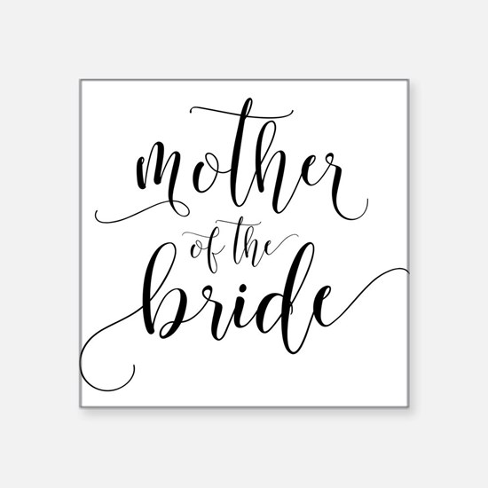 Mother of the Bride Typography Sticker