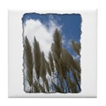 Pampas Grass - Burned Edge Tile Coaster