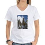 Pampas Grass - Burned Edge Women's V-Neck T-Shirt