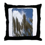 Pampas Grass - Burned Edge Throw Pillow