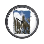 Pampas Grass - Burned Edge Wall Clock