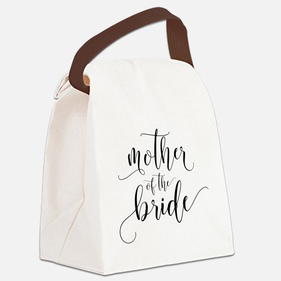 Mother of the Bride Typography Canvas Lunch Bag