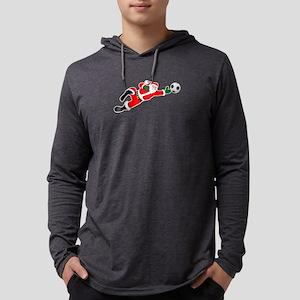 Santa soccer goalie Christmas Long Sleeve T-Shirt