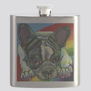 Rainbow Frenchie Flask