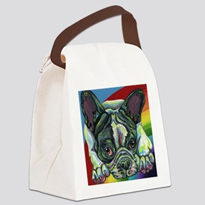Rainbow Frenchie Canvas Lunch Bag