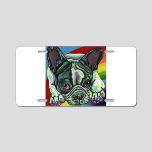 Rainbow Frenchie Aluminum License Plate