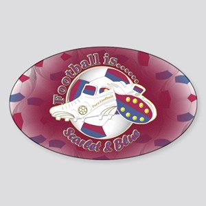 Scarlet and Blue Football Soccer Sticker