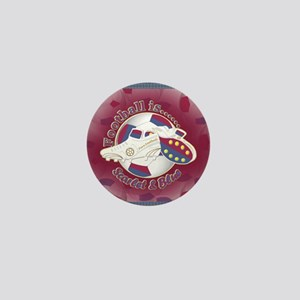 Scarlet and Blue Football Soccer Mini Button