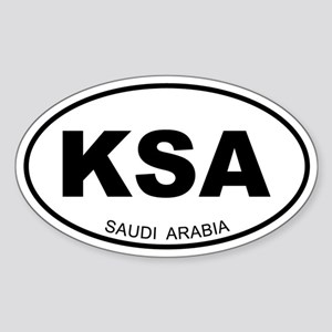Saudi Arabia Oval Sticker