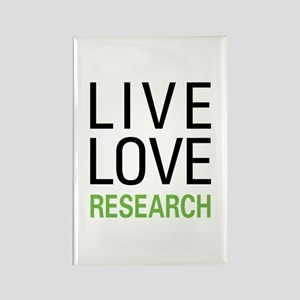 Live Love Research Rectangle Magnet