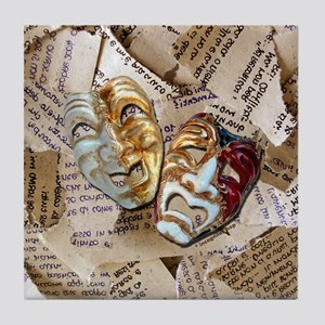 Drama Masks Tile Coaster