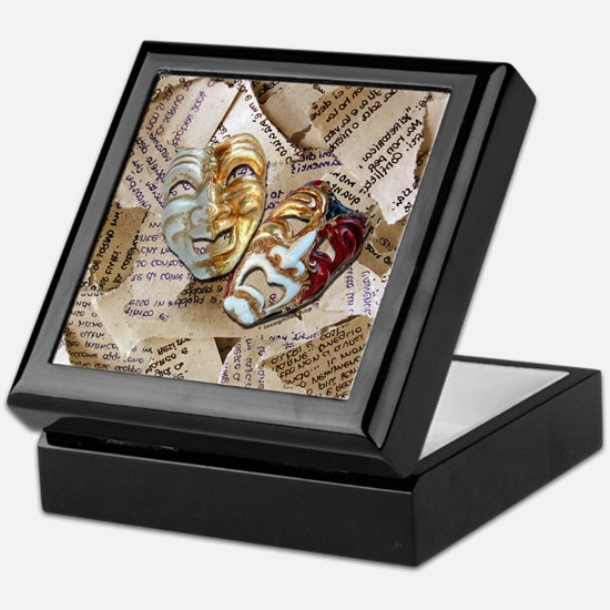 Drama Masks Keepsake Box