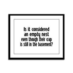 Empty Nest Framed Panel Print