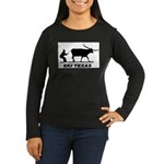 Ski Texas Women's Long Sleeve Dark T-Shirt