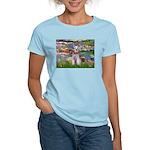 Lilies / M Schnauzer Women's Light T-Shirt