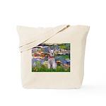 Lilies / M Schnauzer Tote Bag